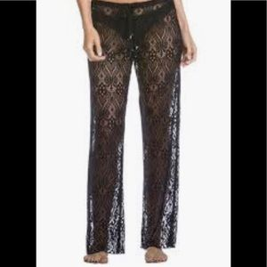 Becca Rebecca virtue poetic lace coverup pants S